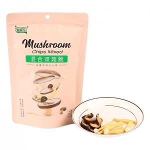 脆脆乐混合双菇脆30g2种菇类脆片鲜切蔬菜儿童办公零食混合装即食